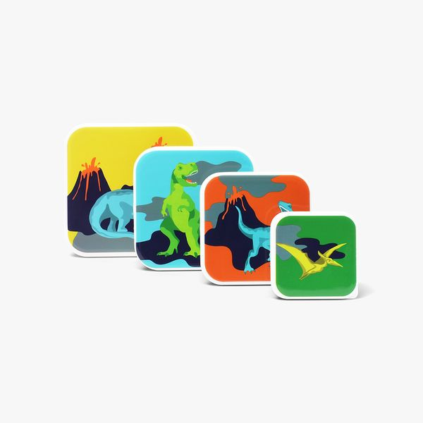 Lava Land Snack Boxes - Set of 4