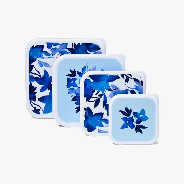 Floral Snack Boxes - Set of 4