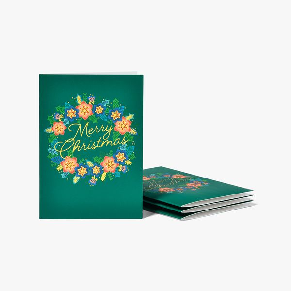 Luxe Wreath Christmas Cards - Box of 8
