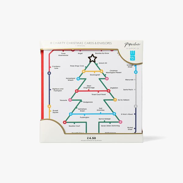 Tube Trees Charity Christmas Cards - Pack of 8