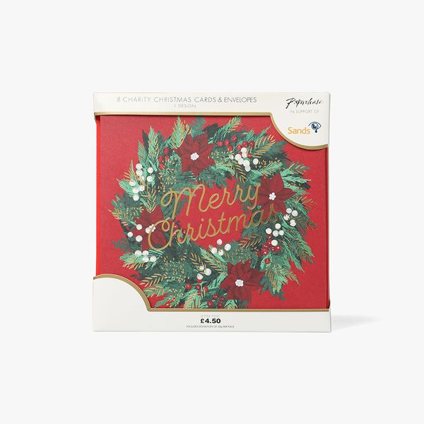 Christmas Wreath Charity Cards - Pack of 8