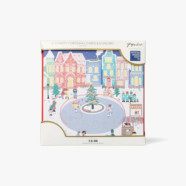 Gingerbread Scene Charity Cards - Pack of 8