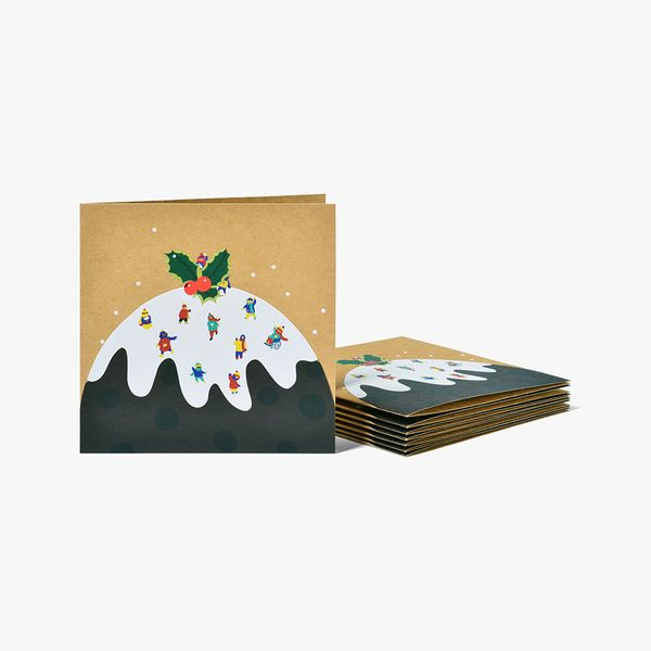 Pudding Snow Scene Charity Cards - Pack of 8
