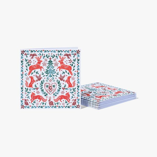 Laser Cut Scandi Charity Cards - Pack of 8