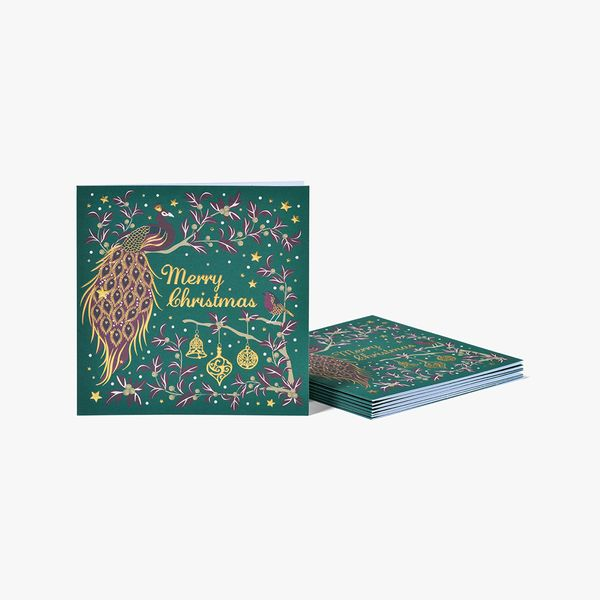Luxe Peacock Charity Cards - Pack of 8