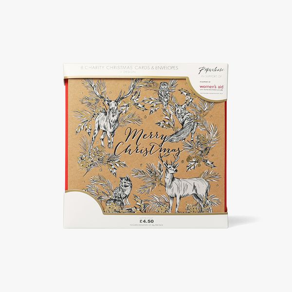 Woodland Kraft Charity Cards - Pack of 8