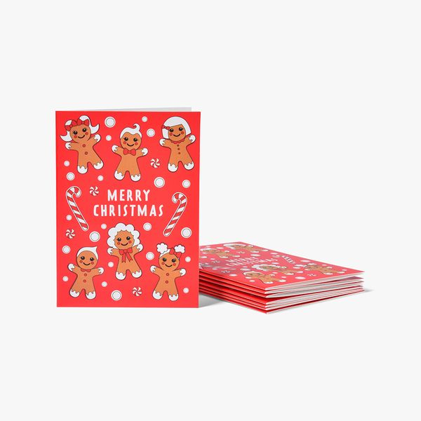 Gingerbread People Cards - Pack of 8
