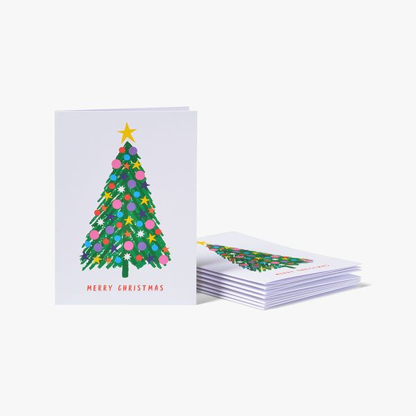 Christmas Tree Cards - Pack of 8