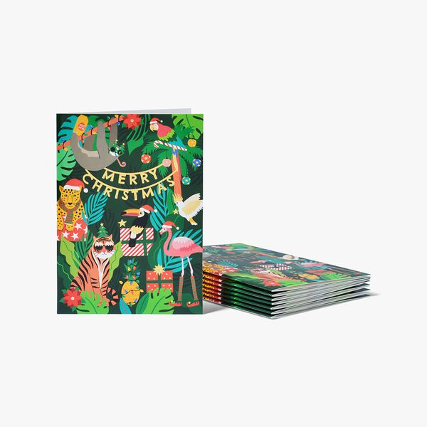 Jungle Christmas Cards - Pack of 8