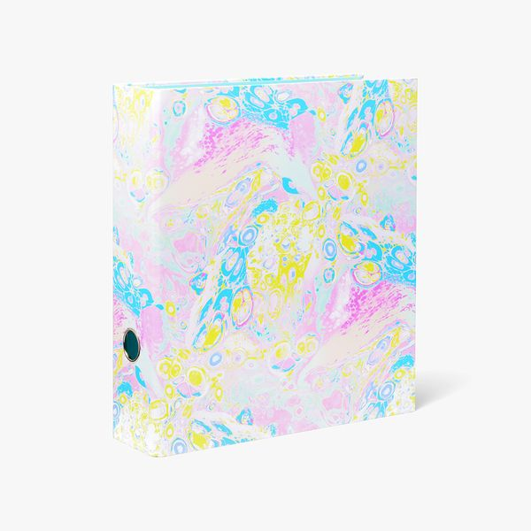 A4 Pastel Marble Lever Arch File