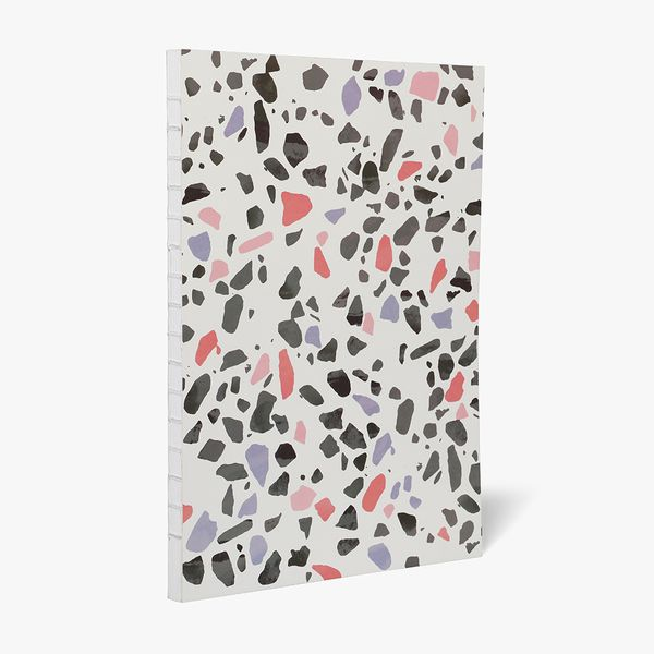 A4 Charcoal Pink Terrazzo Notebook