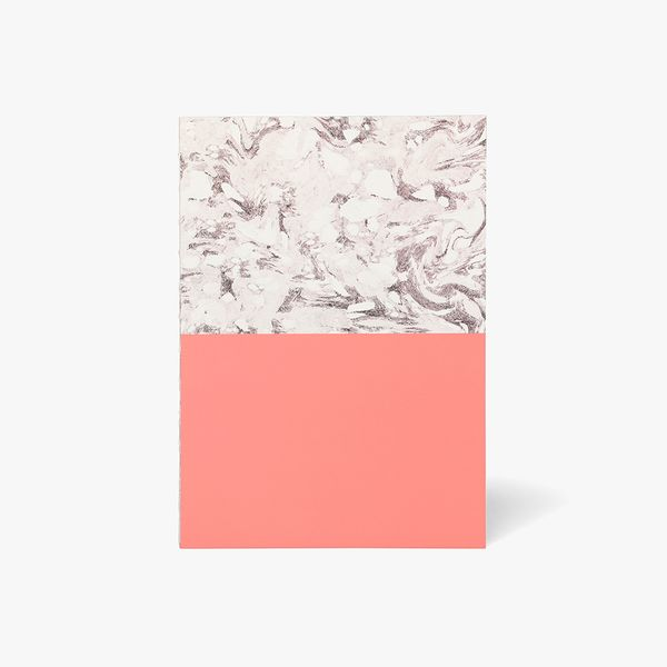 A5 Block Marble Pink Notebook