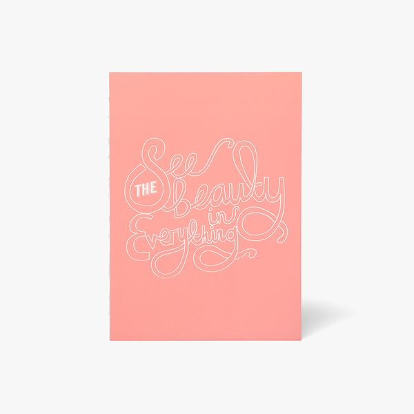 A5 Pink See Beauty Notebook
