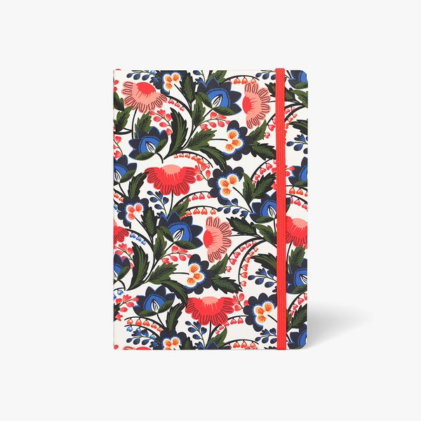 Agenzio Medium Lined Notebook - Floral Ruby