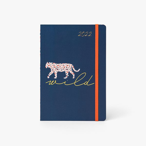A5 Navy Leopard Mid-Year Diary