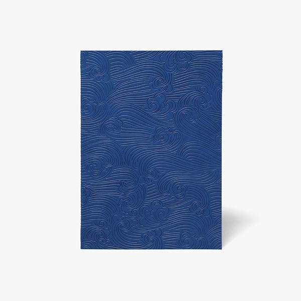 A5 Refillable Notebook in Blue Waves
