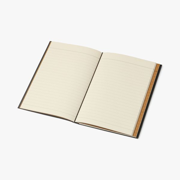 A5 Refillable Notebook in Charcoal Geo