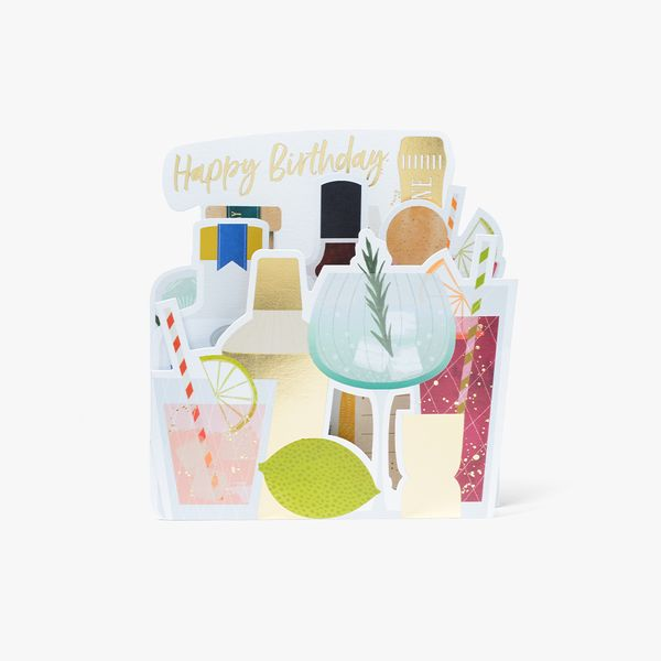 Alcohol Fold Out Birthday Card