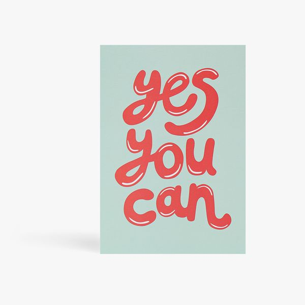 Yes You Can Bubble Postcard