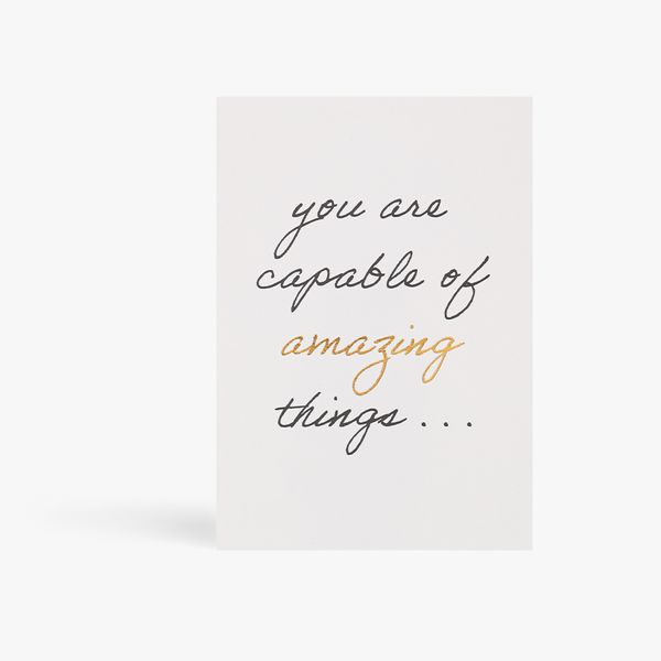 Capable Of Amazing Things Postcard