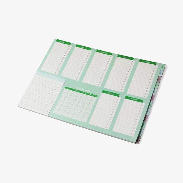 A3 Green Weekly Desk Pad