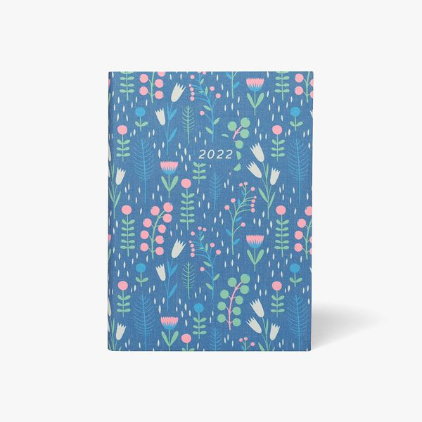 A5 Linen Winter Floral DTV Diary 2022