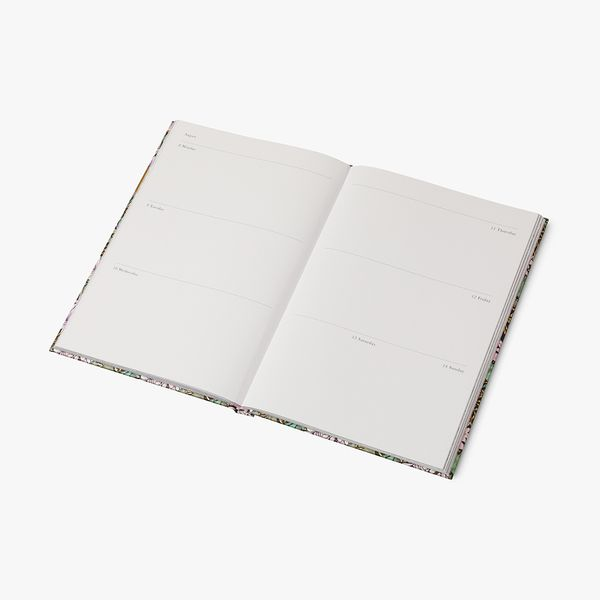 A5 Traditional Floral WTV Diary 2022