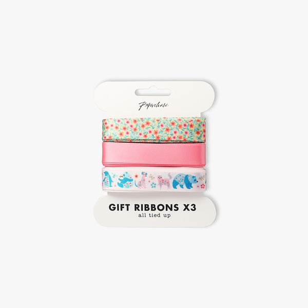 Floral Friends Ribbons 3m - Pack of 3