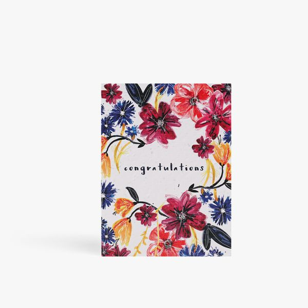 Congratulations Floral Seed Card