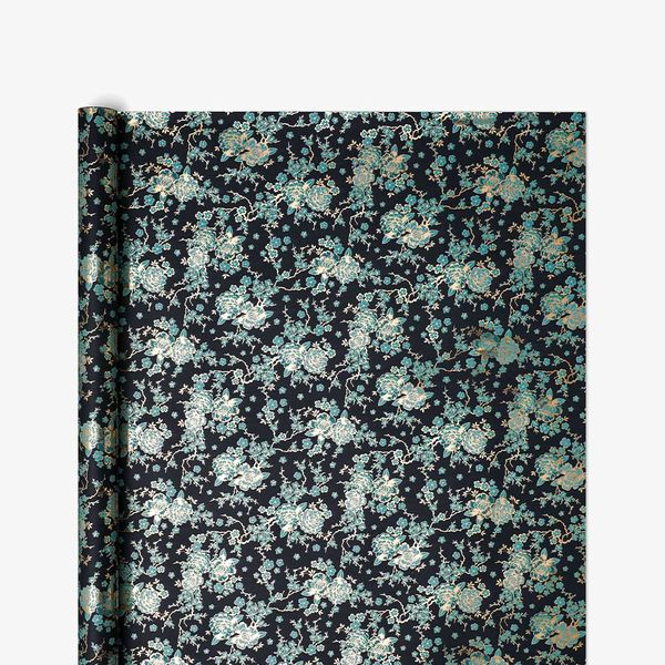 Midnight Blossom Wrapping Paper - 3m
