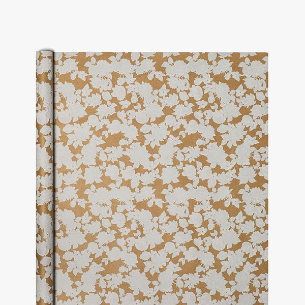 Kraft White Floral Wrapping Paper - 3m