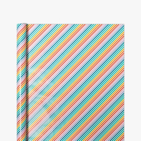 Rainbow Stripe Wrapping Paper - 10m