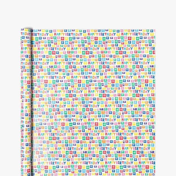 Happy Birthday Presents Wrapping Paper - 5m