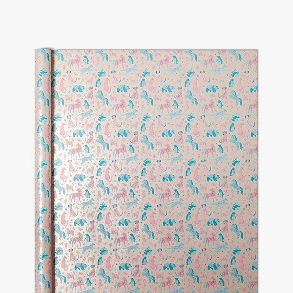 Floral Unicorn Friends Wrapping Paper - 5m