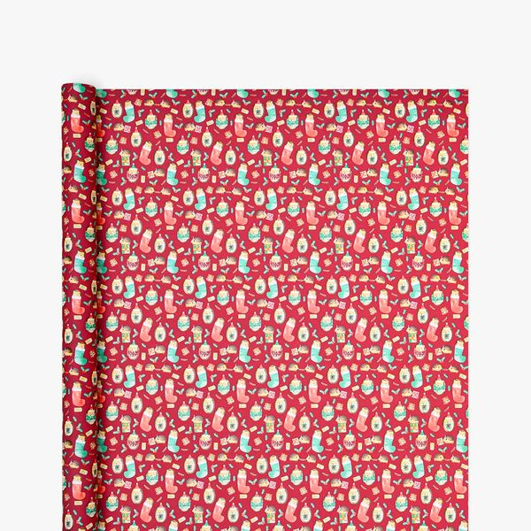 Christmas Hedgehog Wrapping Paper - 3m