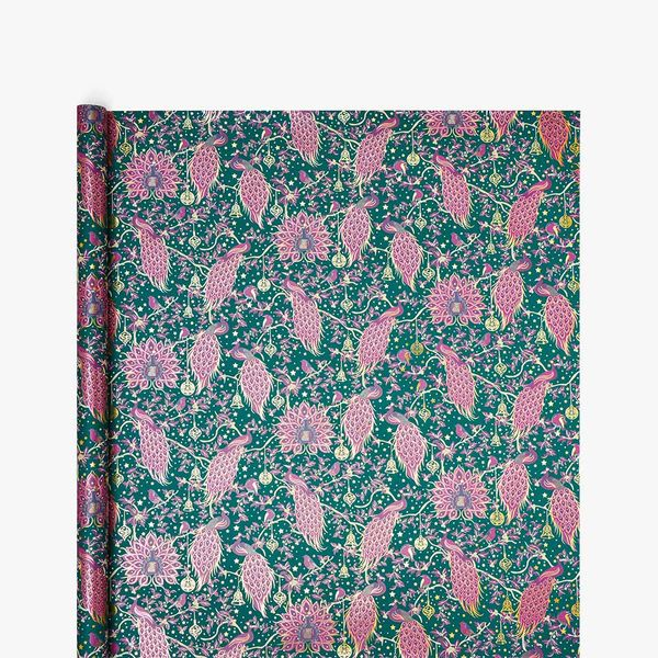 Christmas Peacock Wrapping Paper - 3m