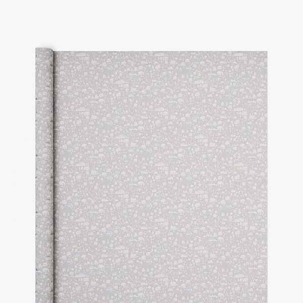 Christmas Town Grey Kraft Wrapping Paper - 3m