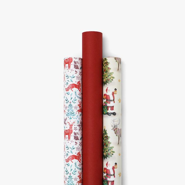 Traditional Christmas Wrap Bundle - Pack of 3