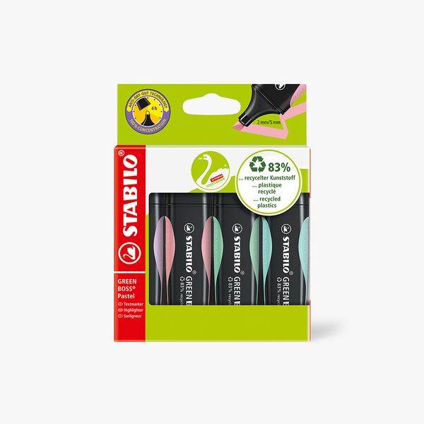 STABILO Pastel Highlighters - Pack of 4