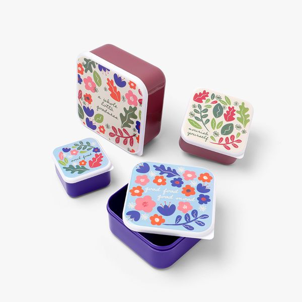 Mindful Snack Boxes - Set of 4