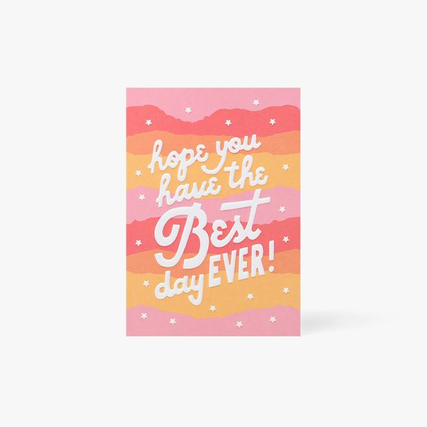 Best Day Ever Stars Card