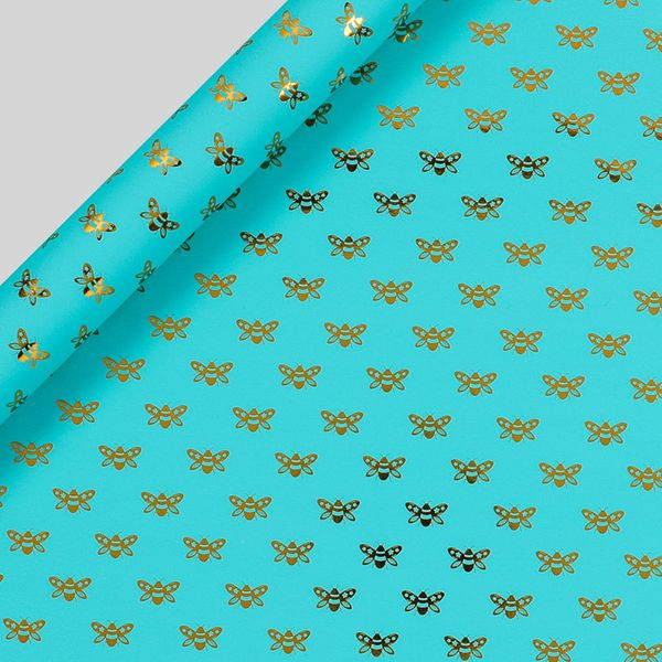 Gold Bee Wrapping Paper - 3m