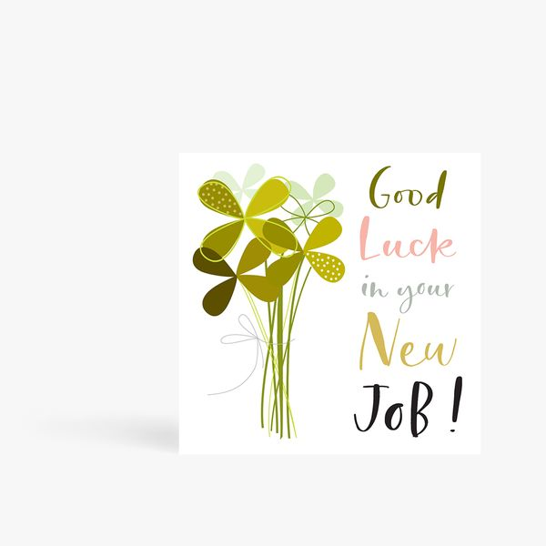 Good Luck in New Job Card