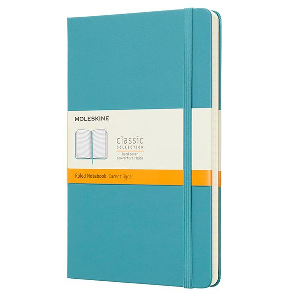 Moleskine Large hardcover blue classic lined notebook