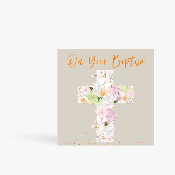 On Your Baptism Cross Card