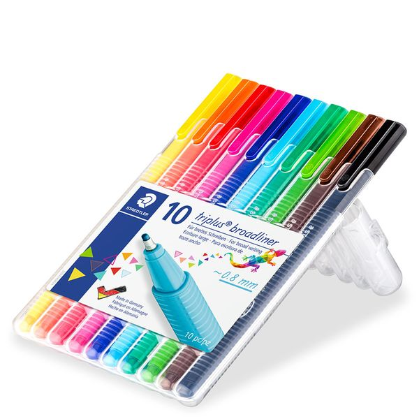 Staedtler triplus broadliners - pack of 10