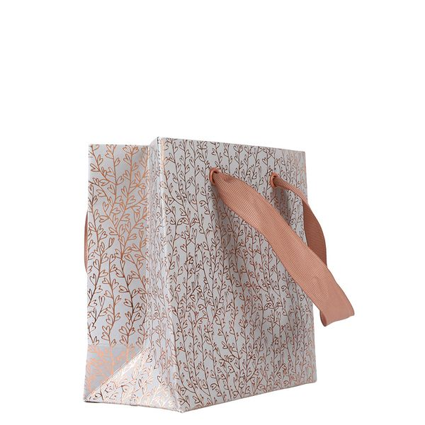 Small leaf copper heart gift bag