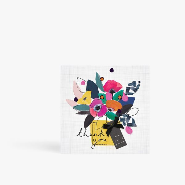 Abstract bouquet thank you card