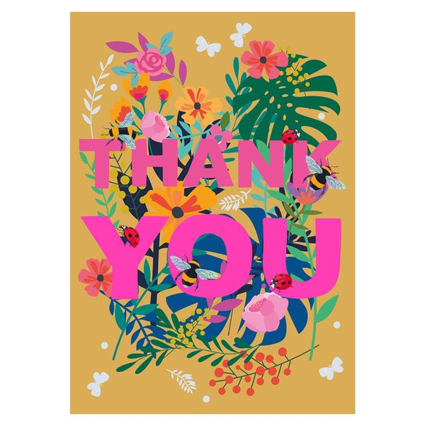 Summertime blossom thank you card