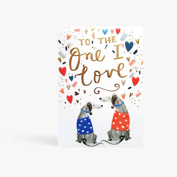 To The One I Love Dog Card